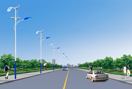 Lampadaires LED hybrides HOMMIIEE Wind